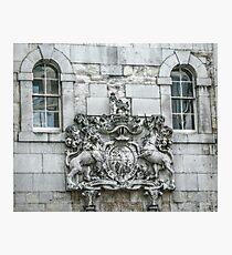 Royal Coat of Arms on the Tower of London Entrance Photographic Print