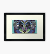 Perception, Upside Down Art Face Art by L. R. Emerson II Framed Print