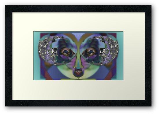 Perception, Upside Down Art Face Art by L. R. Emerson II by L R Emerson II