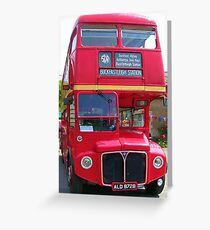 Old London Bus Greeting Card