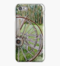 Horse drawn dray in decay iPhone Case/Skin