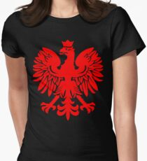 Polish Flag Red Eagle Women's Fitted T-Shirt
