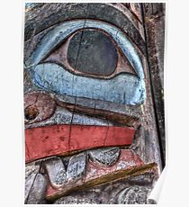 Haida First Nations Totem Carving Poster
