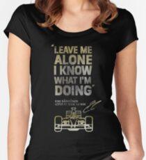 Kimi Raikkonen Leave Me Alone Women's Fitted Scoop T-Shirt