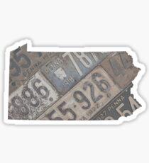 Vintage South Dakota License Plates Sticker