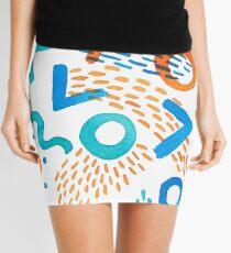 Watercolor Brushstrokes Colors One Mini Skirt