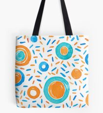 Watercolors brushstrokes in circles and shapes Tote Bag