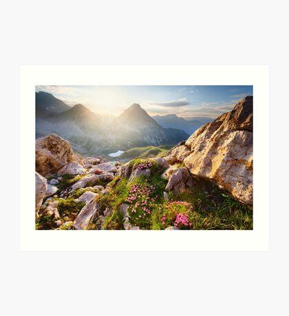 Bergparadies Art Print