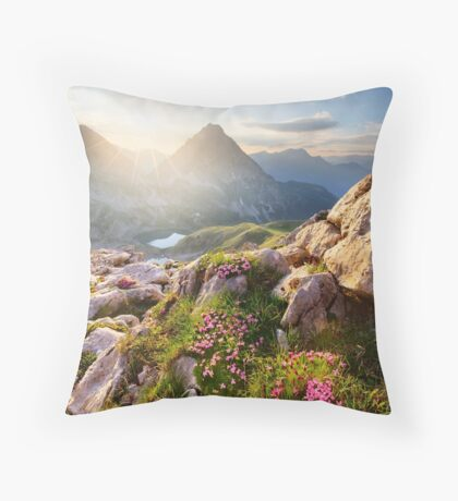 Bergparadies Throw Pillow