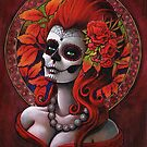 Autumn - Day of the Dead - Sugar skull girl by Isobel Von Finklestein