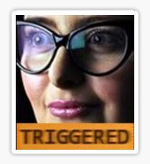 TRIGGERED FEMINIST MEME Sticker