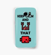 Keep Calm and BBQ that Meat Samsung Galaxy Case/Skin