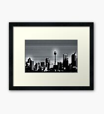 Graphite Skyline Framed Print