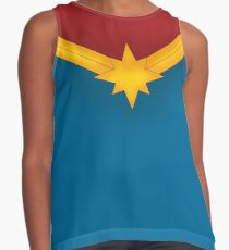 Golden Star with Red and Blue Sleeveless Top