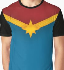 Golden Star with Red and Blue Graphic T-Shirt