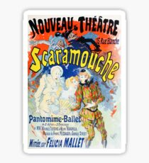 Vintage Jules Cheret 1896 Scaramouche Sticker