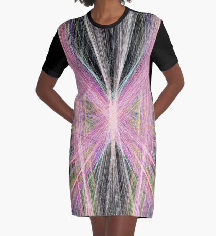 Linify Pink butterfly Graphic T-Shirt Dress