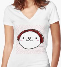 mame mame rock 0008 Women's Fitted V-Neck T-Shirt