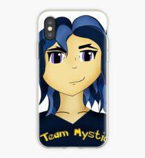 Kawaii Anime style girl in blue - Team Mystic iPhone Case