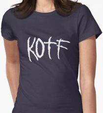 KOTF (WHITE FONT) Womens Fitted T-Shirt