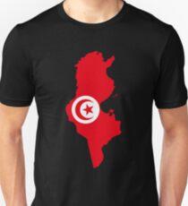 Tunisia Flag Map T-Shirt