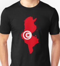 Tunisia Flag Map Unisex T-Shirt