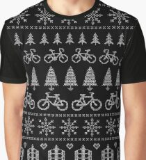 Christmas Cycling Jumper | Red Graphic T-Shirt