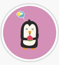 Penguin with melon   Sticker