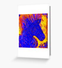 Sun Zebra Greeting Card