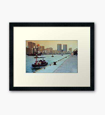 Dubai Creek #01 Framed Print