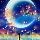 Sternennacht Meerjungfrau von GoldLightStudio
