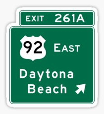 Daytona Beach, Road Sign, FL Sticker