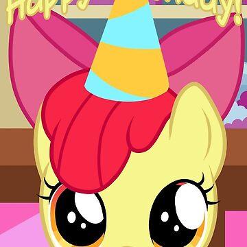 Apple Bloom Birthday Card - Postcard My Little Pony by FalakTheWolf
