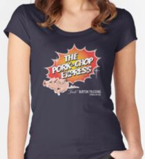 Pork Chop Express - Distressed Light Glow Variant Women's Fitted Scoop T-Shirt
