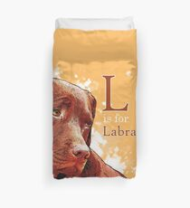 L is for Labrador Duvet Cover