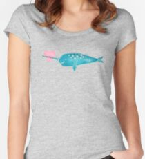 Narwhal Love Women's Fitted Scoop T-Shirt
