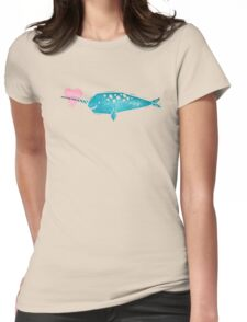 Narwhal Love Womens Fitted T-Shirt