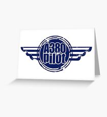 A380 Pilot Greeting Card