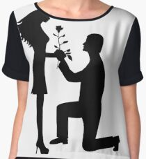 the man recognized the woman in love Women's Chiffon Top