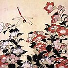 'Chinese Bell Flower and Dragonfly' by Katsushika Hokusai (Reproduction) by Roz Abellera Art Gallery