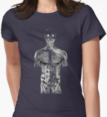 human body anatomy Womens Fitted T-Shirt