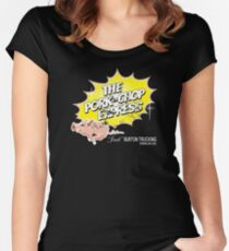 Pork Chop Express - Distressed Zesty Variant Women's Fitted Scoop T-Shirt