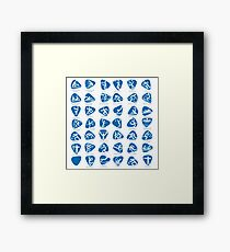 Olympics Icon Pictograms Set Framed Print