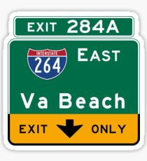 Virginia Beach, Road Sign, VA Sticker