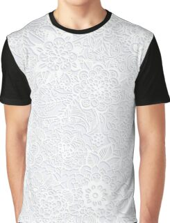 Embossed Powder & Pearl Lace Graphic T-Shirt