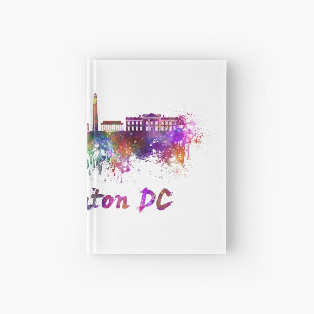 Horizonte de Washington DC en acuarela Cuaderno de tapa dura