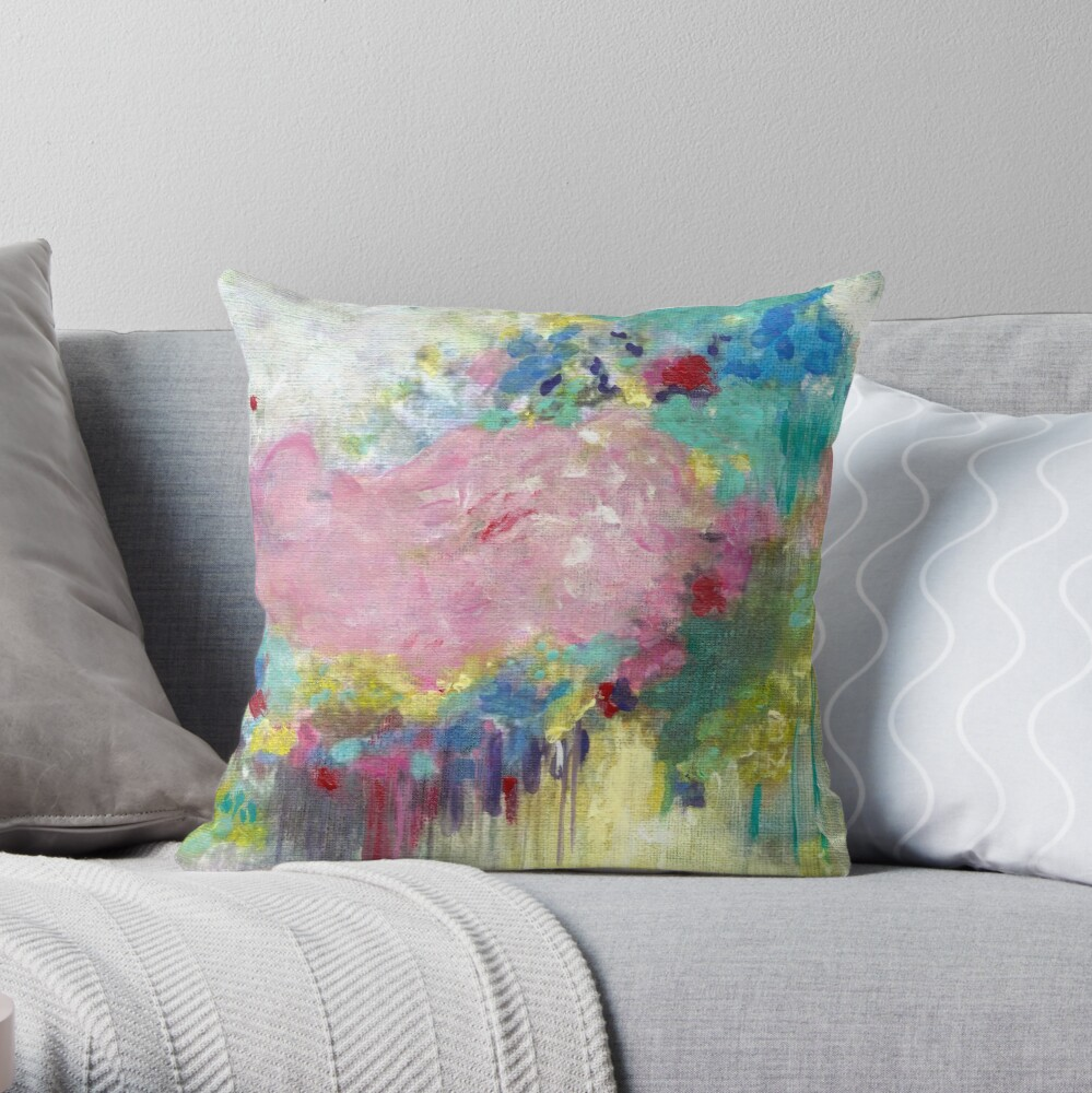 Mk abstract 3 Throw Pillow