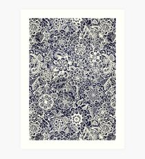 Lace on Nautical Navy Blue Art Print