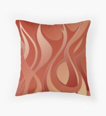Flames - fire symbol, 4 elements Throw Pillow