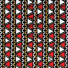 MaroonDawta® - Red African-Inspired Pattern by maroondawta